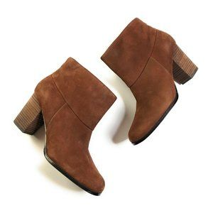 Cole Haan Cassidy Chestnut Booties Ankle Boots 8.5